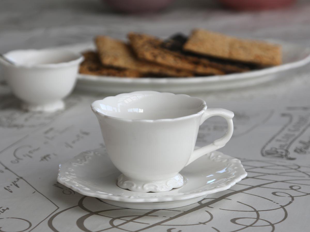 """Porcelánový šálek s podšálkem """"Provence"""" 200 ml"""
