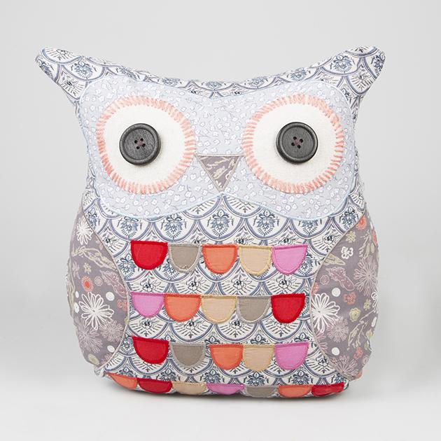 Textilní dekorační polštář sova Pippa
