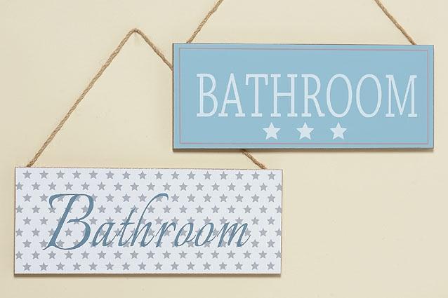 Závěsná cedulka pro označení koupelny