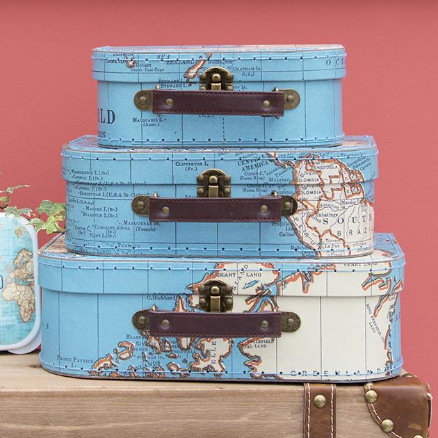 Kartonový kufřík - sada 3 ks