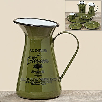 "Smaltovaný džbán ""Olive"" 1350 ml"