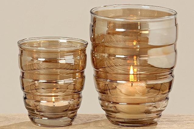 Skleněná váza/svícen - větší