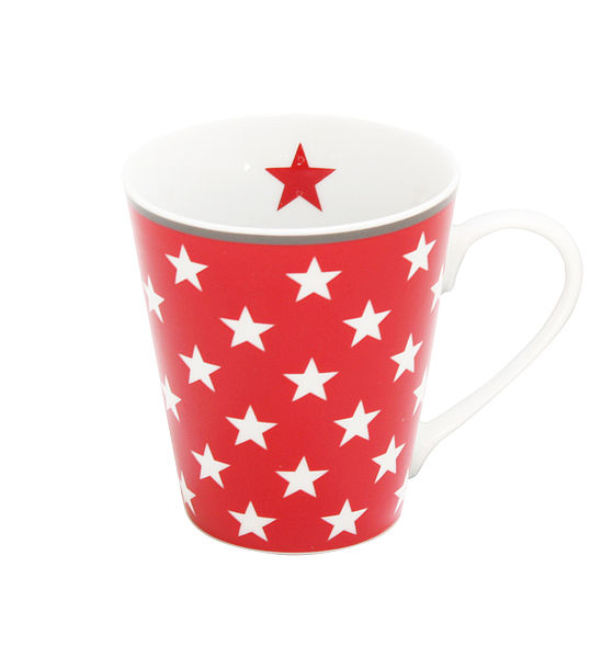 "Porcelánový hrnek ""Red Stars"" 330 ml"