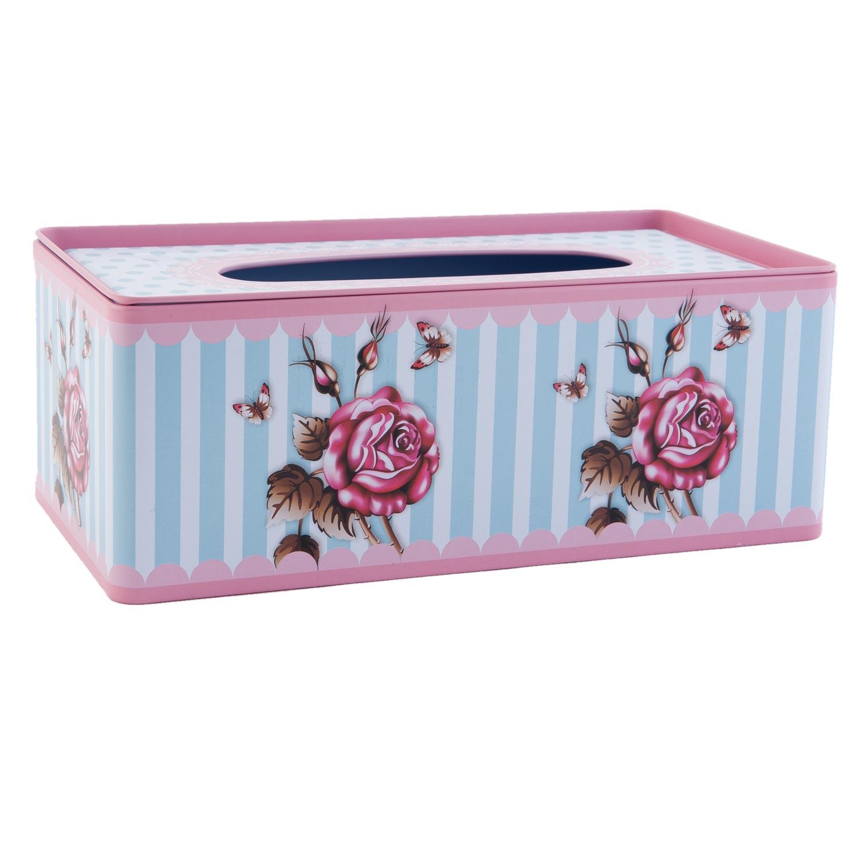 """Plechový box na kapesníky """"Flowers"""""""