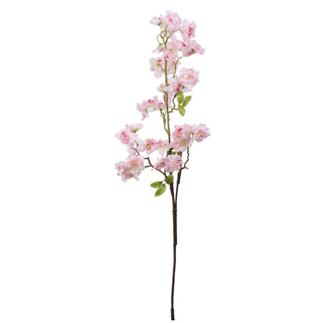Umělá větvička s květy - růžová