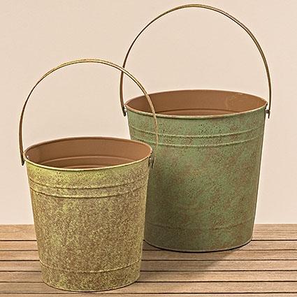 Dekorační kbelík s uchem - větší