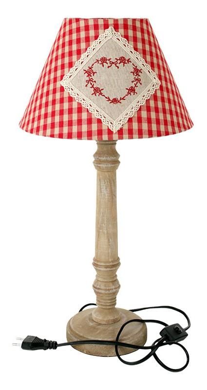 Dřevěná stolní lampa - 50 cm