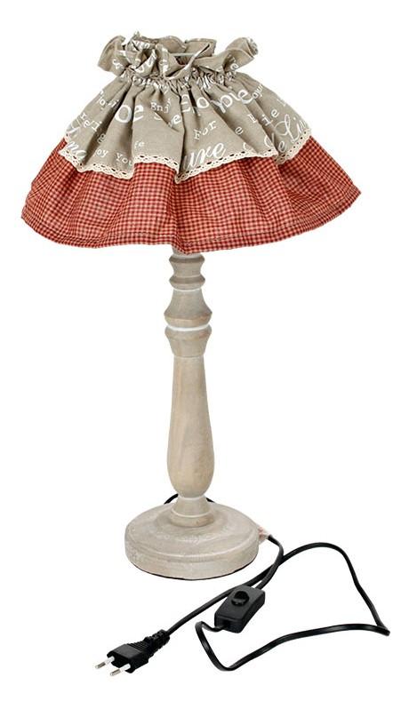 Dřevěná stolní lampa - 48 cm