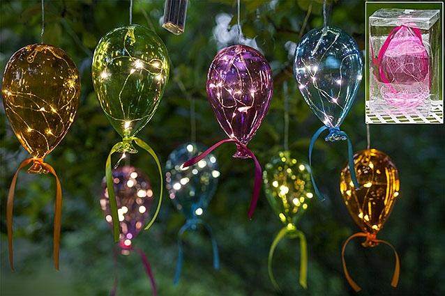 Skleněné LED balónky na zavěšení