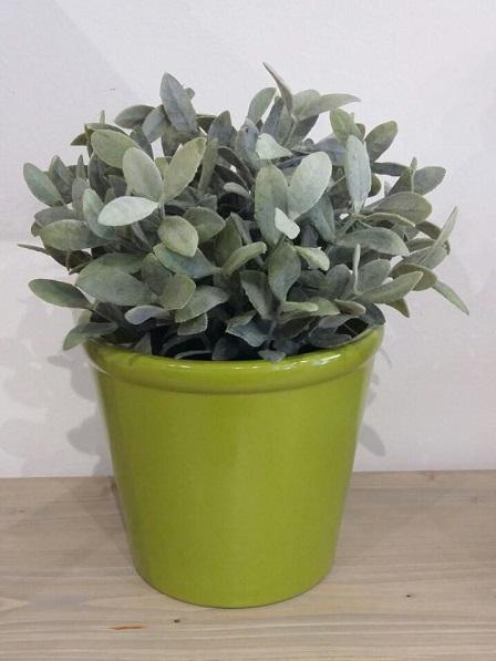 Keramický květináč - zelený