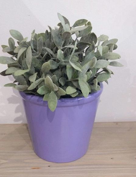 Keramický květináč - fialový