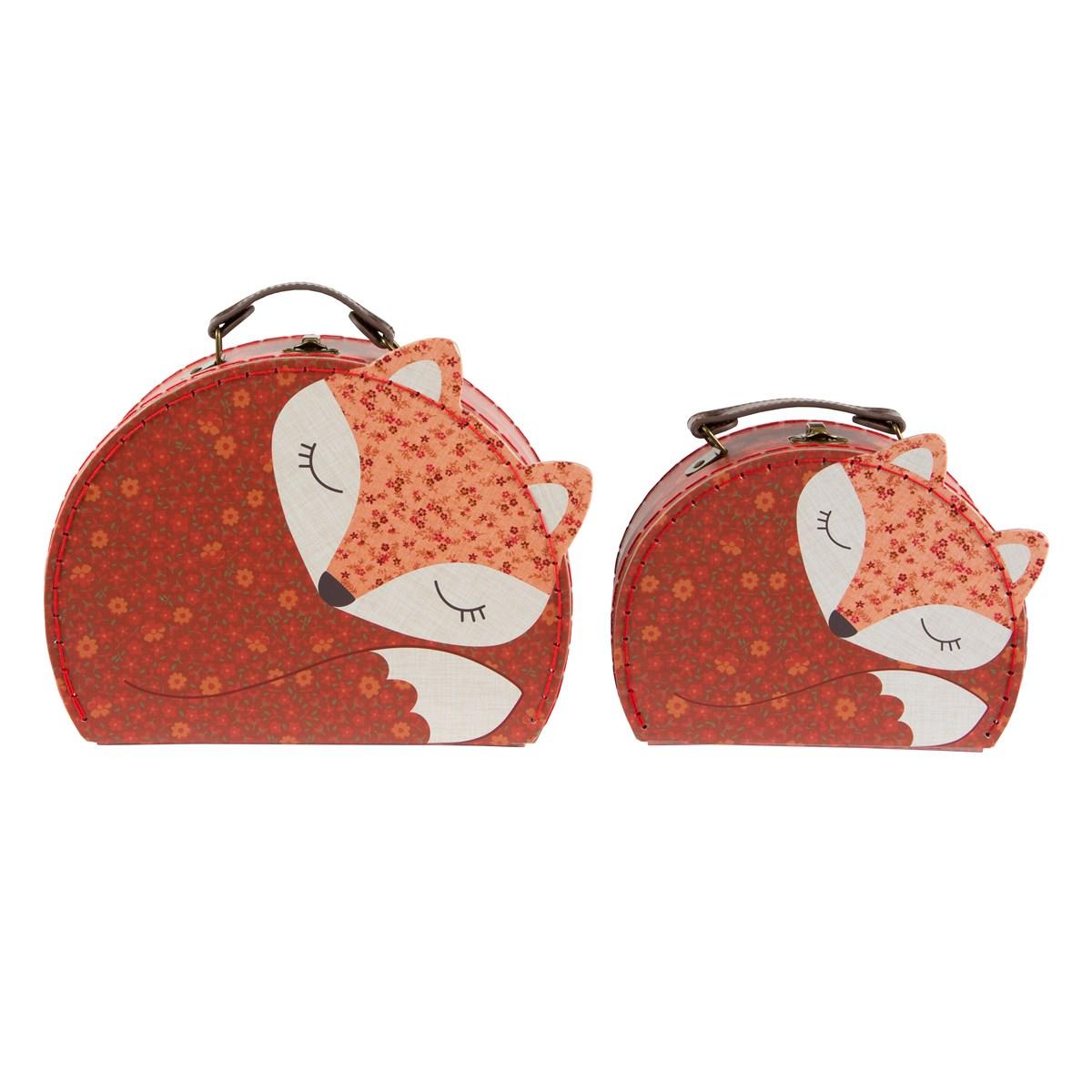 Kartonový kufřík Liška - menší