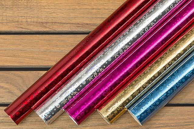 Balicí papír metalický 200 x 70 cm