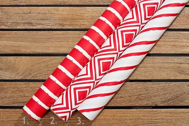 Balicí papír červený mix 200 x 70 cm