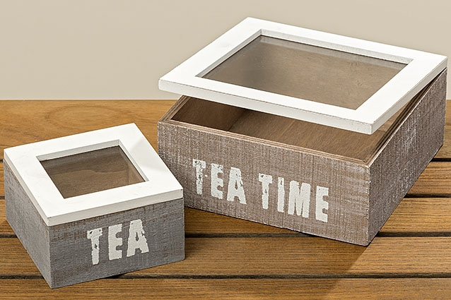 Dřevěný box na čaj Tea Time