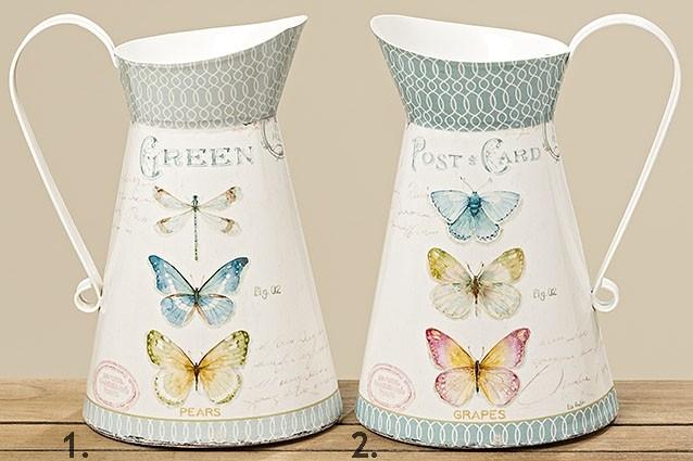 Plechový džbán s motýly 3300 ml