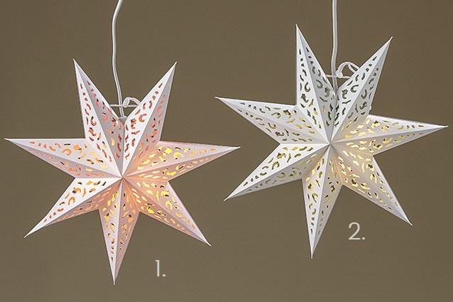 Svítící hvězda na zavěšení 35 cm (skladem 18.10.2017)