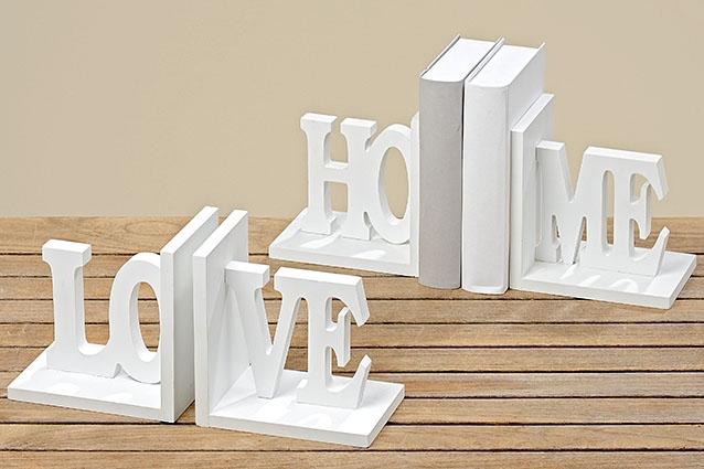 Dřevěné zarážky na knihy - set 2 ks