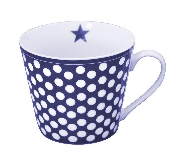 Porcelánový hrnek Dark blue dots 350 ml
