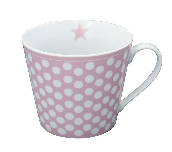Porcelánový hrnek Pink dots 350 ml
